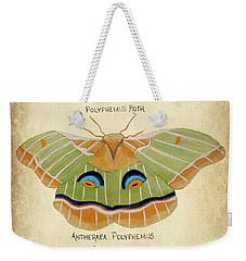 Moth Study Weekender Tote Bag