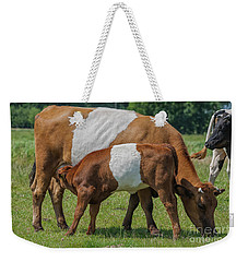 Weekender Tote Bag featuring the photograph Mother And Child by Patricia Hofmeester