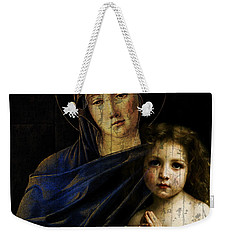 Weekender Tote Bag featuring the mixed media Mother And Child Reunion  by Paul Lovering