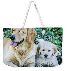 Mother And Pup Weekender Tote Bag