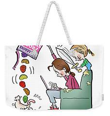 Mother At Work Weekender Tote Bag