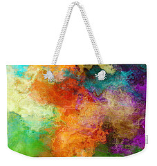 Mother Earth - Abstract Art Weekender Tote Bag by Jaison Cianelli