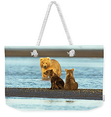Mother Gazing At Her Cubs Weekender Tote Bag