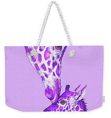 Mother Giraffe Weekender Tote Bag by Jane Schnetlage