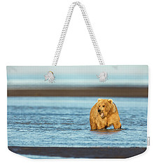 Mother Grizzly Fishing Weekender Tote Bag