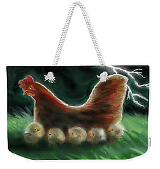 Mother Hen Weekender Tote Bag