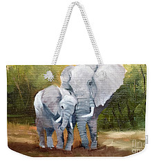 Mother Love Elephants Weekender Tote Bag