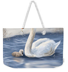 Weekender Tote Bag featuring the painting Mother Love by Veronica Minozzi
