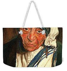 Weekender Tote Bag featuring the painting Mother Teresa  by Carole Spandau