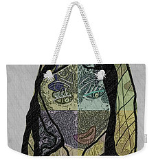Weekender Tote Bag featuring the mixed media Mother Teresa  Never Forget by Ann Calvo