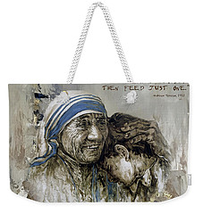 Mother Teresa Portrait  Weekender Tote Bag
