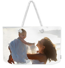 Mother With Baby In Pure Joy, Marin County, California Weekender Tote Bag