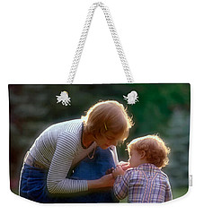 Mother With Kid Weekender Tote Bag