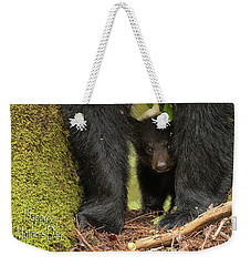 Mothers Day Bear Card Weekender Tote Bag by Everet Regal