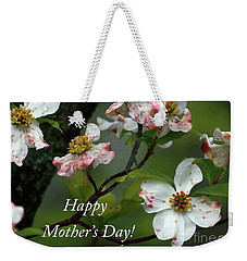 Mother's Day Dogwood Weekender Tote Bag by Douglas Stucky