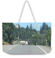 Weekender Tote Bag featuring the photograph Motorcycle Club Aka Four by Marie Neder