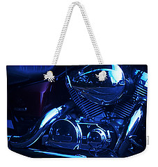 Motorcycle Honda File Weekender Tote Bag by Suzanne Powers