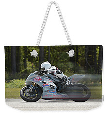 Motorcycle Race Weekender Tote Bag by Alan Lenk