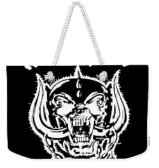Weekender Tote Bag featuring the digital art Motorhead by Gina Dsgn