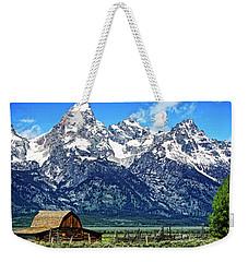 Moulton Barn At Mormon Row Inside Grand Teton National Park Weekender Tote Bag
