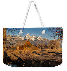 Weekender Tote Bag featuring the photograph Moulton Barn by Gary Lengyel