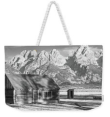 Weekender Tote Bag featuring the photograph Moulton Homestead - Bunkhouse by Colleen Coccia