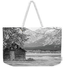 Weekender Tote Bag featuring the photograph Moulton Homestead - Granary by Colleen Coccia