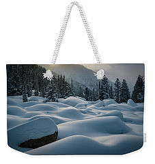 Mounds Of Snow In Little Cottonwood Canyon Weekender Tote Bag