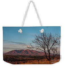 Mount Ara At Sunset With Dead Tree In Front, Armenia Weekender Tote Bag by Gurgen Bakhshetsyan