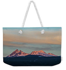 Mount Aragats, The Highest Mountain Of Armenia, At Sunset Under Beautiful Clouds Weekender Tote Bag by Gurgen Bakhshetsyan
