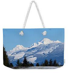 Mount Baker From Farm-to-market Road Weekender Tote Bag by Karen Molenaar Terrell