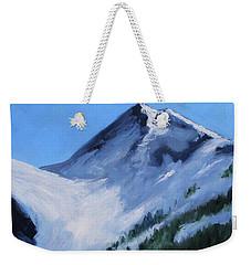 Weekender Tote Bag featuring the painting Mount Baker Glacier by Nancy Merkle