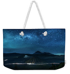 Weekender Tote Bag featuring the photograph Mount Bromo Resting Under Million Stars by Pradeep Raja Prints