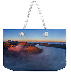 Weekender Tote Bag featuring the photograph Mount Bromo Scenic View by Pradeep Raja Prints