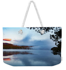Weekender Tote Bag featuring the photograph Mount Chocorua Peeks Above The Fog by Jeff Folger