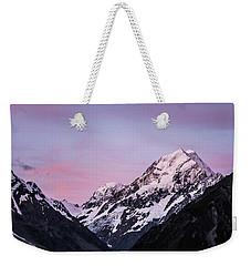 Mount Cook Sunset Weekender Tote Bag