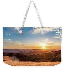 Mount Diablo Sunset Weekender Tote Bag