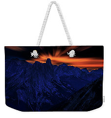 Weekender Tote Bag featuring the photograph Mount Doom by John Poon