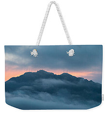 Mount Franklin Stormy Winter Sunset Pano Weekender Tote Bag