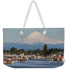Mount Hood And Columbia River House Boats Weekender Tote Bag