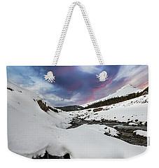 Mount Hood In Winter Weekender Tote Bag