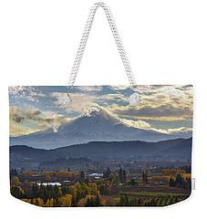 Mount Hood Over Hood River Valley In Fall Weekender Tote Bag