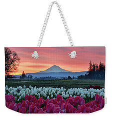 Mount Hood Sunrise Weekender Tote Bag