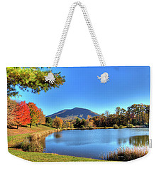 Mount Jefferson Reflection Weekender Tote Bag by Dale R Carlson