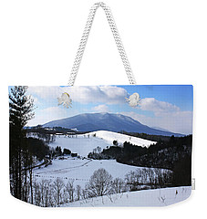 Mount Jefferson Winter Weekender Tote Bag