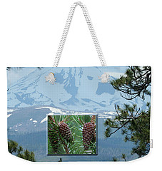 Mount Jefferson With Pines Weekender Tote Bag by Laddie Halupa
