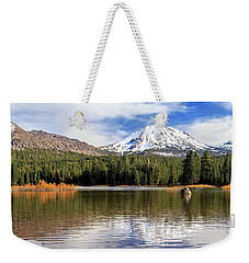 Weekender Tote Bag featuring the photograph Mount Lassen Autumn Panorama by James Eddy