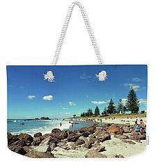 Mount Maunganui Beach 2 - Tauranga New Zealand Weekender Tote Bag by Selena Boron