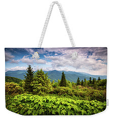 Mount Mitchell Asheville Nc Blue Ridge Parkway Mountains Landscape Weekender Tote Bag
