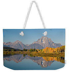 Weekender Tote Bag featuring the photograph Mount Moran by Steve Stuller